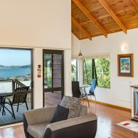 Sea View from The Treetops Living / Dining Area